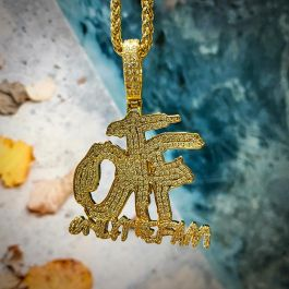 Iced ONLY THE FAM Pendant in Gold
