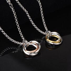 Triple Loops Stainless Steel Pendant