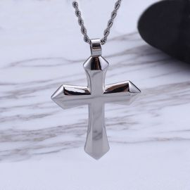 Simple Stainless Steel Cross Pendant