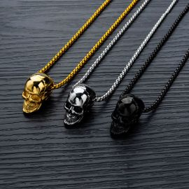 Fashion Titanium Steel Skull Pendant