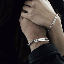 Couple Personalized Cuban ID Bracelets