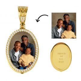 Custom  Oval Shape Photo Pendant