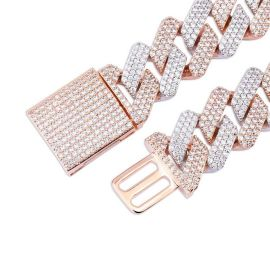 Two-Tone 20mm Cuban Bracelet with Box Clasp