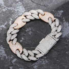 16mm Cuban G-Link Bracelet with Big Box Clasp