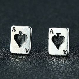 Ace of Spades Playing Card Earrings