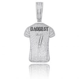 Iced No. 7 Jersey Pendant