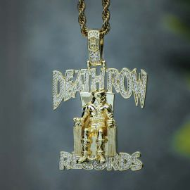 Iced Records Pendant in Gold