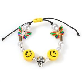 Smile Face with Pearl Necklace Set