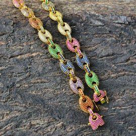 Multi-color G-Link Necklace