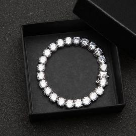 Iced 8mm Tennis Bracelet in Silver