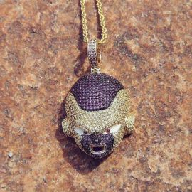 Iced Frieza Pendant in Gold