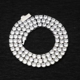5mm Tennis Necklace in White Gold