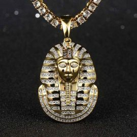 Iced Pharaoh Pendant in Gold