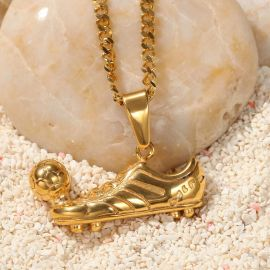 Soccer Shoes Pendant in Gold