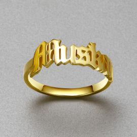 Personalized Old English Name Rings