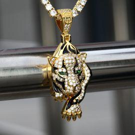 The Walking Leopard Pendant in Gold