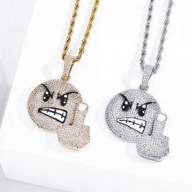 Iced Angry F*CK Emoji Pendant
