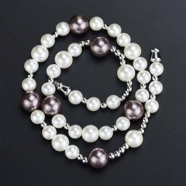 White and Black Pearl Necklace