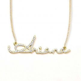 Iced Custom Letters Name Neckalce with Tennis Chain