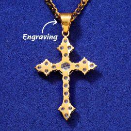 Gold Iced Cross Pendant