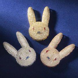 Iced Bad Bunny Pendant