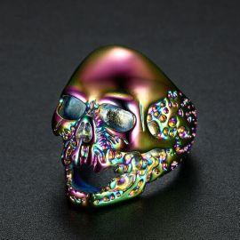 Colorful Skull Titanium Steel Ring