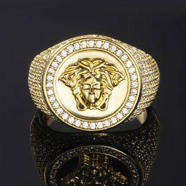Iced Snake Hair Banshee Ring in Gold
