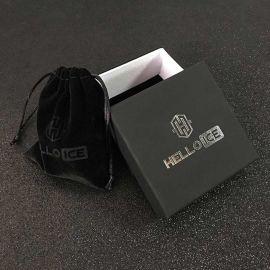 Black Braided Leather White Gold Anchor Bracelet