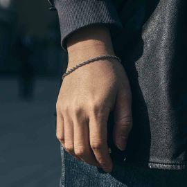 3mm Rope Bracelet in White Gold