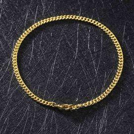 3mm Cuban Bracelet in Gold