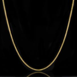 3mm Cuban Chain in Gold