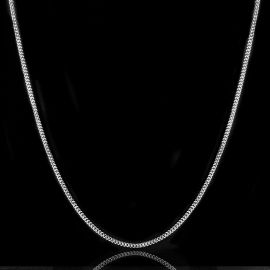 3mm Cuban Chain in White Gold
