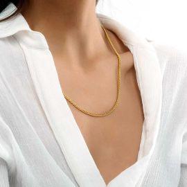 Women's 3mm Cuban Chain in Gold