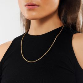 Women's 3mm 18K Gold Finish Rope Chain