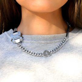 Women's Custom Letters Bar Belt Buckle Cuban Chain with Smile Face, Dollar, Broken Heart Sign