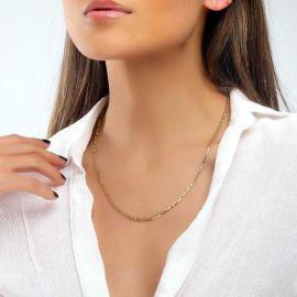 Women's 3mm Figaro Chain in Gold