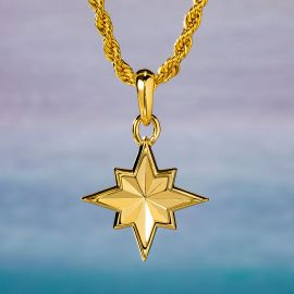 North Star Pendant in Gold
