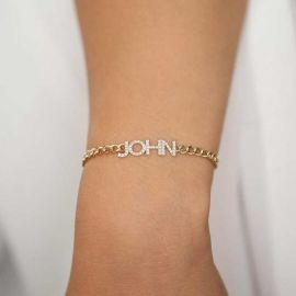 Personalized Iced Name Bracelet