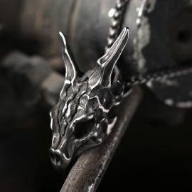 Skull Cat Stainless Steel Pendant