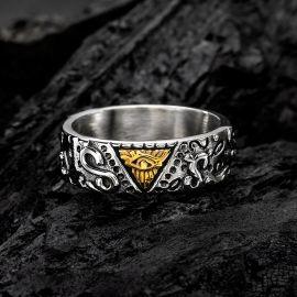 Egyptian Eye of Horus Stainless Steel Ring