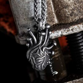 Anatomical Heart Stainless Steel Pendant