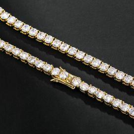 5mm Tennis 18K Gold Chain