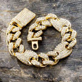 16mm G-link Cuban Bracelet in Gold