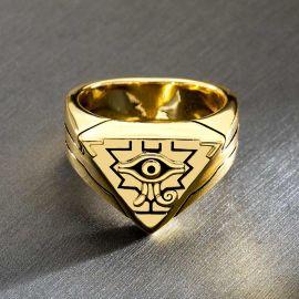Egyptian Pyramid Eye of Horus Ring