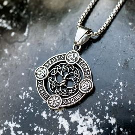 Valknut Norse Amulet Stainless Steel Pendant