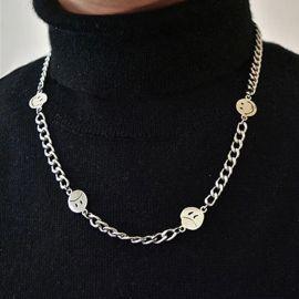 Smile Face Titanium Steel Cuban Necklace