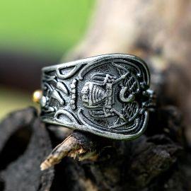 Vintage Irregular Engraving Stainless Steel Ring