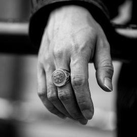 Vegvisir Axe Stainless Steel Ring