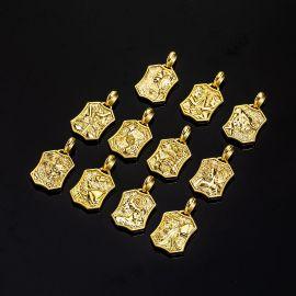 Iced Twelve Constellations Pendant in Gold