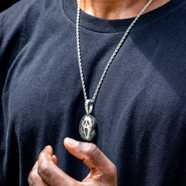 Iced Scary Scream Ghost Face Pendant